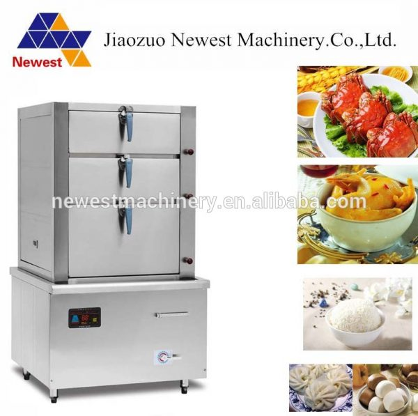 Commercial-3-layers-steaming-cabinet-seafood-steamer
